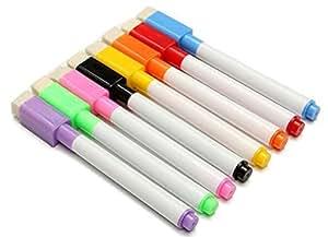Nacpy - Rotulador para pizarra blanca con punta de borrado en seco para escuela, oficina, 8 unidades, color al azar