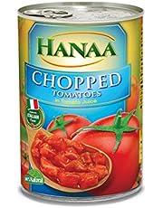 هناء معجون صلصة طماطم مقطعة , 400 غم
