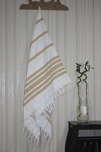 Troy Authentic 100% Cotton Turkish Peshtemal Towel Fouta Bol