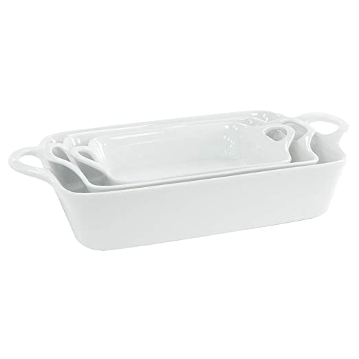 Recipientes de gres para horno, de ProCook 3 Piece White: Amazon ...