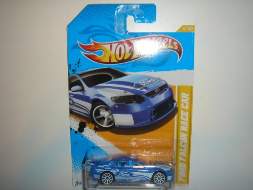 Hot Wheels 2012 New Models Ford Falcon Race Car 4 of 50 Blue (Ford Falcon Hot Wheels)