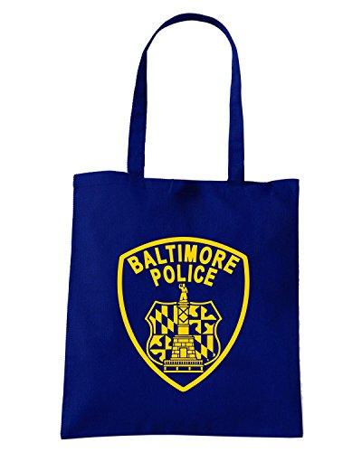 T-Shirtshock - Bolsa para la compra FUN0687 baltimore police nvy mens cu 4 1 Azul Marino