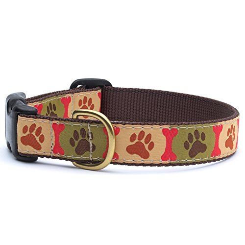 Up Country Pawprints Dog Collar - XS