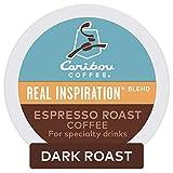 Keurig Caribou Coffee Real Inspiration Blend Espresso Roast Coffee, Single-Serve Keurig K-Cup Pods, Dark Roast Coffee, 6 Count (Pack of 8)