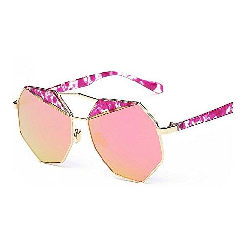 de Gafas ribeteadas polarizadas de Gafas para Gafas mujer UV Púrpura sol de sol conducción metal de sol personalidad Color sol Protección para polígono de de marco de la de Púrpura Gafas irregular Z7UYWqBU