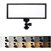 VILTROX L132T 0.78/2cm Ultra Thin CRI95 5600K/3300K LED Video Light Dimmable Flat Panel On-camera Light Pad for Canon Nikon Pentax Olympus Samsung Panasonic DSLR Cameras DV Camcorders