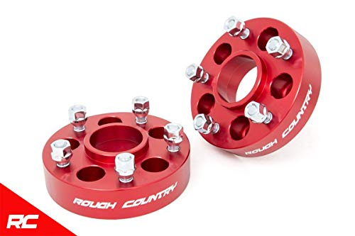 Rough Country Wheel Adapters Compatible w 1987-2006 Jeep Wrangler YJ TJ 84-01 Cherokee XJ ZJ MJ 5x4.5 to 5x5 Red 1092RED