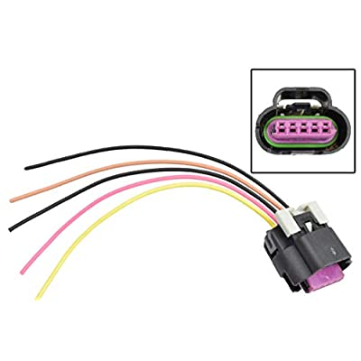ICT Billet LS Mass Air Flow Connector 5 Wire Pigtail Gen 3 WPMAF30: Automotive