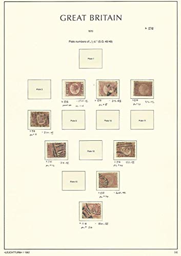 Great Britain Stamp Collection on Lighthouse Page 1870, 58, SCV $588