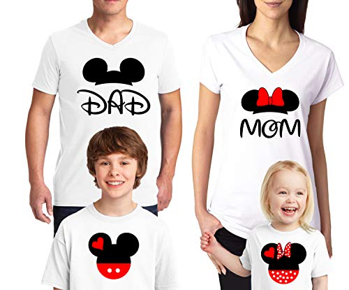 Natural Underwear Family Trip #2 Mickey Mouse Minnie Mouse Ears Cotton Mom Dad Family T Shirts Family Vacations 2019 V Neck T Shirts for Boys Girls Women Men White Men XX-Large]()