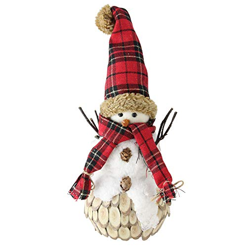 Rustic Snowman - Northlight Snowman with Scarf Hat Christmas Table Top Décor, White