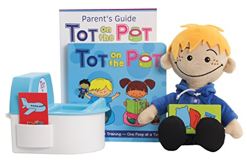 (Potty Training with Tot On The Pot (Light Boy) - Complete Kit Includes Parent's Guide, Children's Book, TOT Doll, Toy Toilet & Activity Reward Cards | Pediatrician-Recommended | Play-Based Learning)