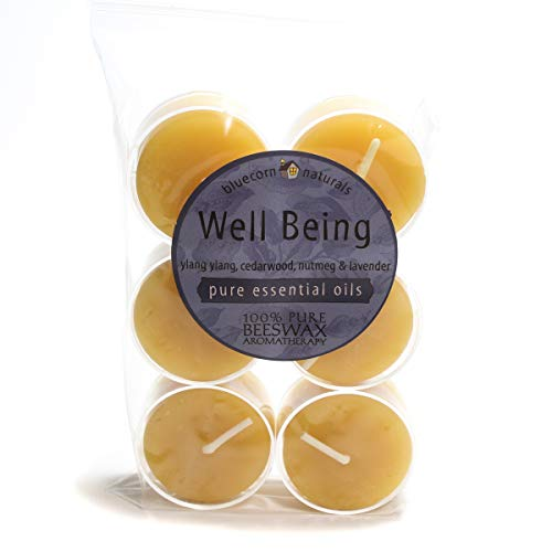 Bluecorn Beeswax Aromatherapy Tea Lights (6-Pack) (Well Being) ()