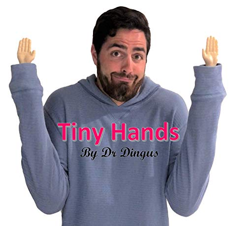 Dr Dingus Tiny Hands (1 Pair) - Novelty Joke Fun - Small Mini 3 Inch Hands up Sleeves - Makes Anyone Laugh