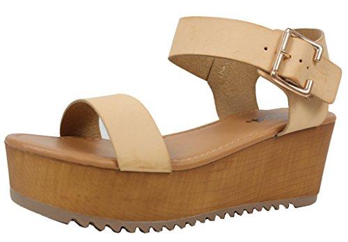 990844999fc Soda Womens Ankle Flatform Sandal product image