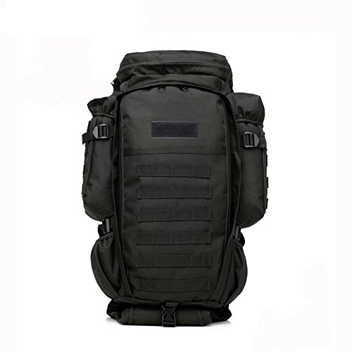 Military Tactical Backpack Rifle Gun Storage Holder Military Survival Trekking Hiking Fishing Rod Bag with Belt Black