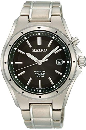 Seiko Kinetic Watch SKA763P1 - Titanium Gents Kinetic Analogue