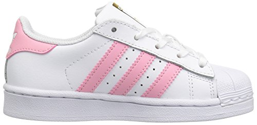 Metallic adidas Superstar Kids' White Pink Gold Sneaker Clear Light rrP0wqBx