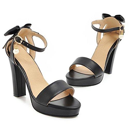 Heels Coolcept Sandalias Black Mujer Lazo Moda tq74zrqO