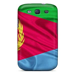 Awesome FYZPMsf6432HCtyn Mialisabblake Defender Tpu Hard Case Cover For Galaxy S3- Eritrea Flag