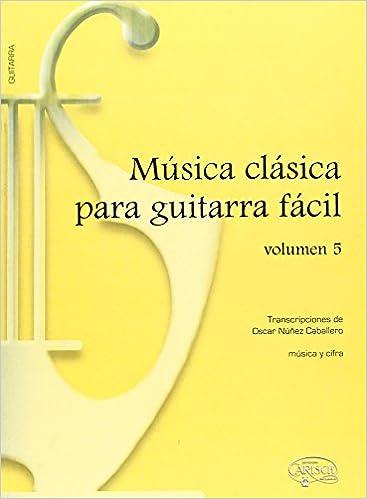 Música Clásica para Guitarra Fácil, Volumen 5: Amazon.es: Aa.Vv., Guitar: Libros
