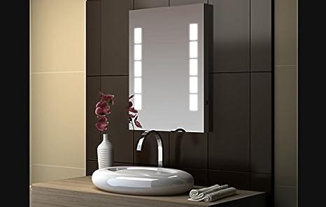 Illuminazione Integrata Cucina : Specchio rettangolare illuminazione integrata imf amazon