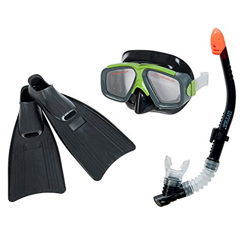 Intex Surf Rider Kids Swimming Diving Mask, Snorkel & Fin Set | 55959