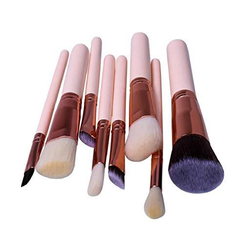 Kadola Face Mask Brush Beauty Tool Foundation Makeup Kabuki Blush Silicone Brushes Powder Facial Sets-8x Pro Makeup Brushes Set Foundation Powder Eyeshadow Brush Tool Pi,Pink