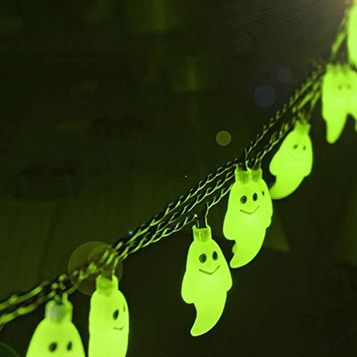 Flikool 30 LED Guirnalda de Luces Solar Halloween Fantasma Luces ...