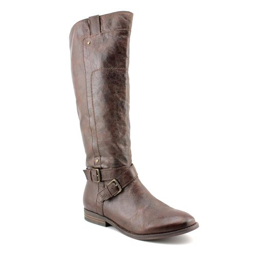 Marc Fisher Women's Artful Knee High Leather Boots in Medium Brown Size 5.5 (Marc Fisher Artful compare prices)