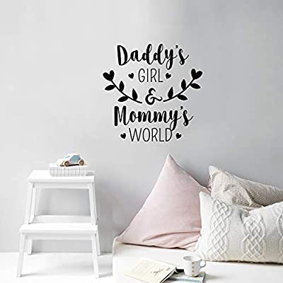 Vinyl Wall Art Decal - Daddy's Girl and Mommy's World - 23