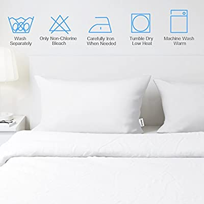 Adoric Pillow Cases Queen Size Pillow Cases Set of 2 Easy to WASH with Envelope Closure Dark Grey Grinding Pillow Case 20x 30