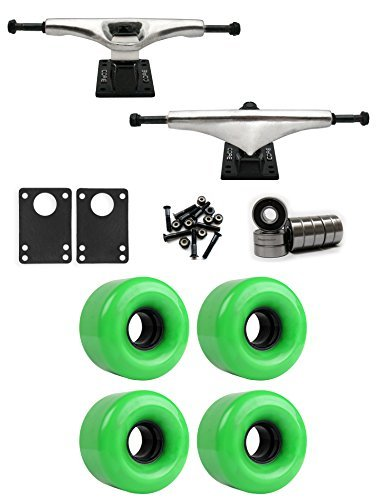コア6.0 Longboardトラックホイールパッケージ62 mm x 40 mm 83 a 362 Cグリーン [並行輸入品]   B078WV2G1B