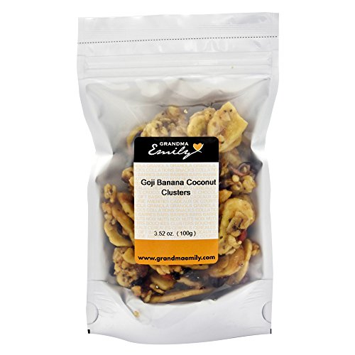 Grandma Emily's, Granola Clusters Snack Pack with Hearty Goji,  Banana and Coconut 3.52 oz