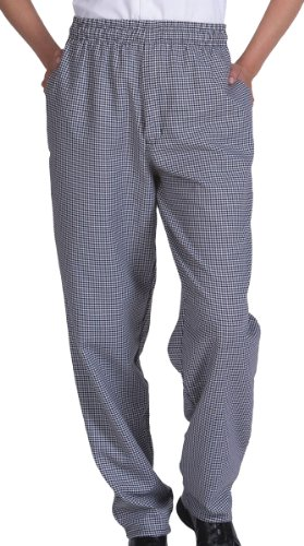 Ed Garments Unisex Comfortable Fit Baggy Chef Pant, HOUNDSTOOTH, XX-Large (Comfortable Chef Pants)