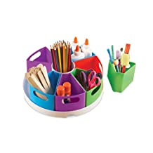 Learning Resources LER3806 Create-A-Space Storage Center Bright Colors Classroom Organization