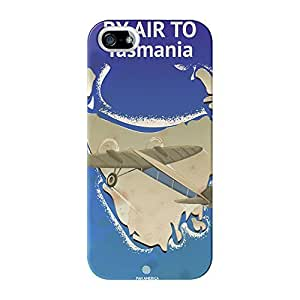 Tasmania Full Wrap High Quality 3D Printed Case for iPhone 5 / 5s by Nick Greenaway + FREE Crystal Clear Screen Protector