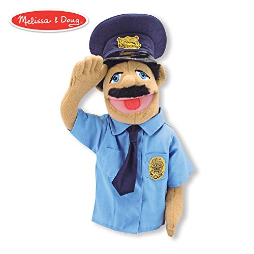 Melissa & Doug Police Officer Puppet (Detachable Wooden Rod for Animated Gestures, Ideal for Left- or Right-Handed Children, 15