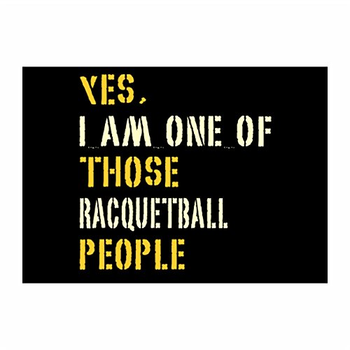 Idakoos - YES I AM ONE OF THOSE Racquetball PEOPLE - Sports - Sticker Pack x4
