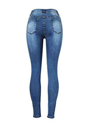 Wincolor Women's Ripped Destroyed Holes Distressed Skinny Jeans Boot-Cut