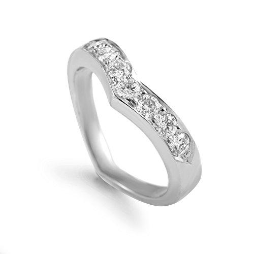 Tiffany & Co Tiffany & Co. Platinum & Diamond Band Ring ()