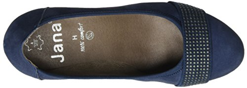 Jana 22303, Zapatos de Tacón para Mujer Azul (Navy Suede 806)