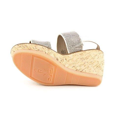 Hush Puppies Cores Sling Femmes Beige Cuir Chaussures Sandales EU 41