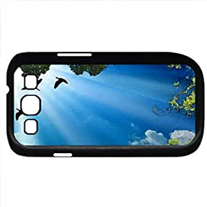 Up To The Sky (Sky Series) Watercolor style - Case Cover For Samsung Galaxy S3 i9300 (Black)