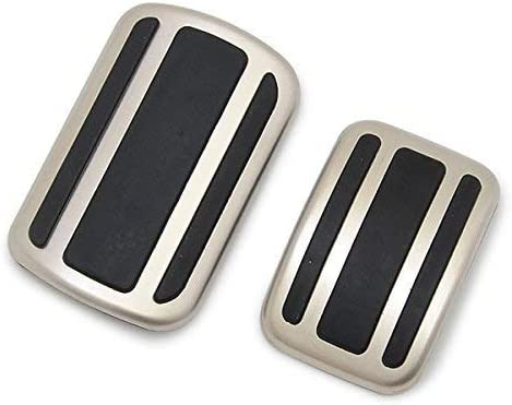 AT WANWU Car Gas Fuel Pedal Cover Brake Pedals Rest Pedal Covers for 308 3008 408 4008 5008 Citroen C4 Picasso