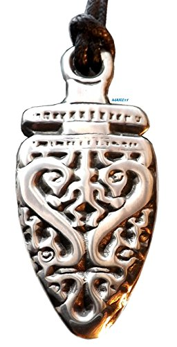 Warrior Dragon Pendant (Dragon Spirit Warrior - Pewter Pendant - Celtic, Norse, Nordic, Knotwork, Shaman, Jewelry)