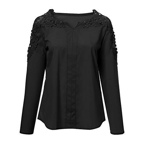 Vtements de T Unie Rond pour Manches dcontracts Shirt col Longues Couleur Veste et AMUSTER Femmes Sport Noir de g7xvRwZ
