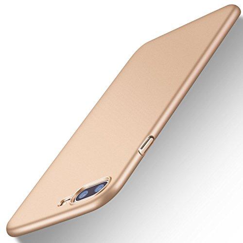 TORRAS Slim Fit iPhone 8 Plus Case/iPhone 7 Plus Case, Hard Plastic PC Ultra Thin Mobile Phone Cover Case Matte Finish Coating Grip Compatible iPhone 7 Plus / 8 Plus, Blush Gold