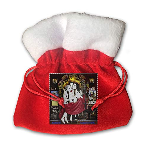 JOELEWIS Jane's Addiction Ritual De Lo Habitual Christmas Bags Red Drawstring Gift Bags for Holiday Presents Decorations Xmas