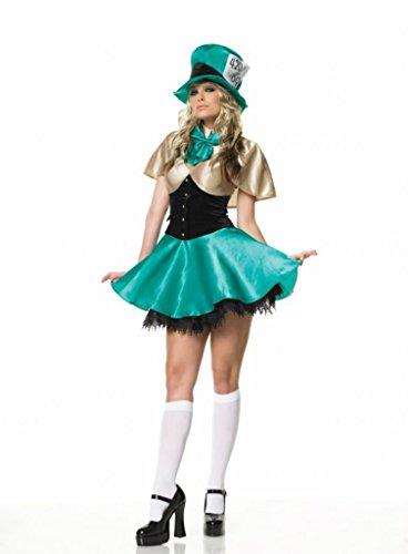 Tea Party Hostess Sexy Costumes (Leg Avenue Womens Tea Party Hostess Outfit Fancy Dress Sexy Costume, L (10-14))